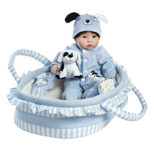 "Paradise Galleries Lifelike Realistic Soft Vinyl Weighted 18 inch Baby Boy  Doll Gift ""Finn & Sparky"" Great to Reborn"