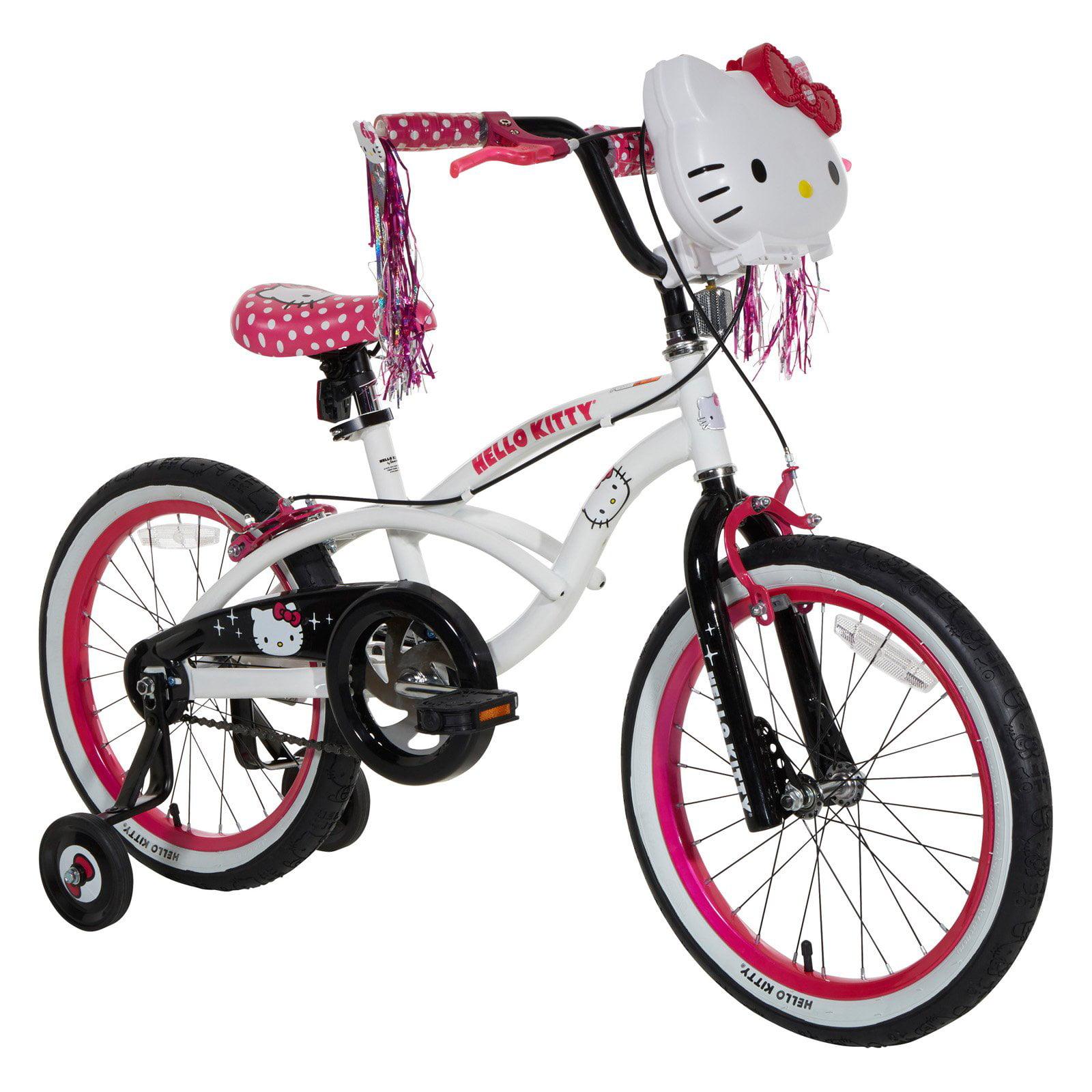 "18"" Hello Kitty Girls' Sidewalk Bike, White by Dynacraft BSC,INC."