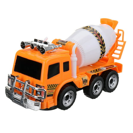 9.25*3.54*4.92 Inch Cute Cartoons Electric Cement Mixer Toy Car Multifunctional Engineering Vehicle Electronic Truck Car With Lights & Music Function Kid