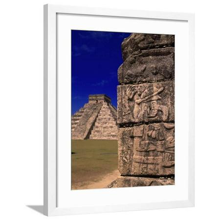 Ancient Mexican Art (Ancient Mayan City Ruins, Chichen Itza, Mexico Framed Print Wall Art By Walter Bibikow)