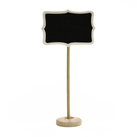 Dress My Cupcake Vintage Chalkboard Place Card Holder Stand for Dessert Table, Pack of 10