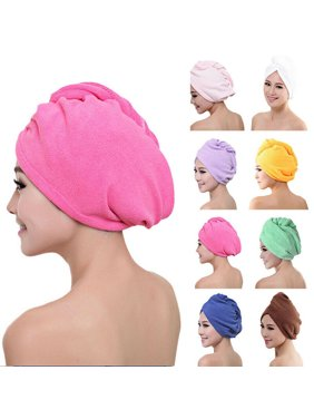 SUNSIOM LARGE QUICK DRY MAGIC HAIR TURBAN TOWEL MICROFIBRE HAIR WRAP BATH TOWEL CAP HAT