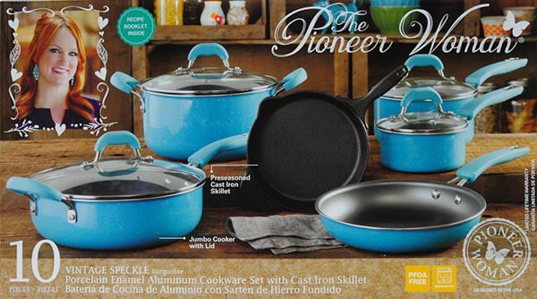 The Pioneer Woman 10 Piece Pots And Pans Set 75 Off At Walmart