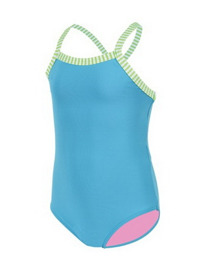 (Price/each)Dolfin LD9504 - Toddler Girls Solid-Turquoise-2T