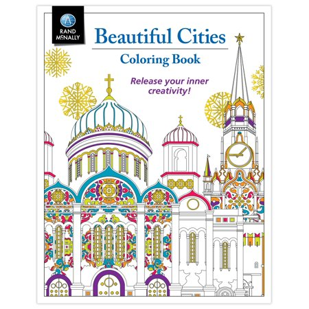 Rand McNally 0528016016 Book Beautiful Cities Coloring Book ...
