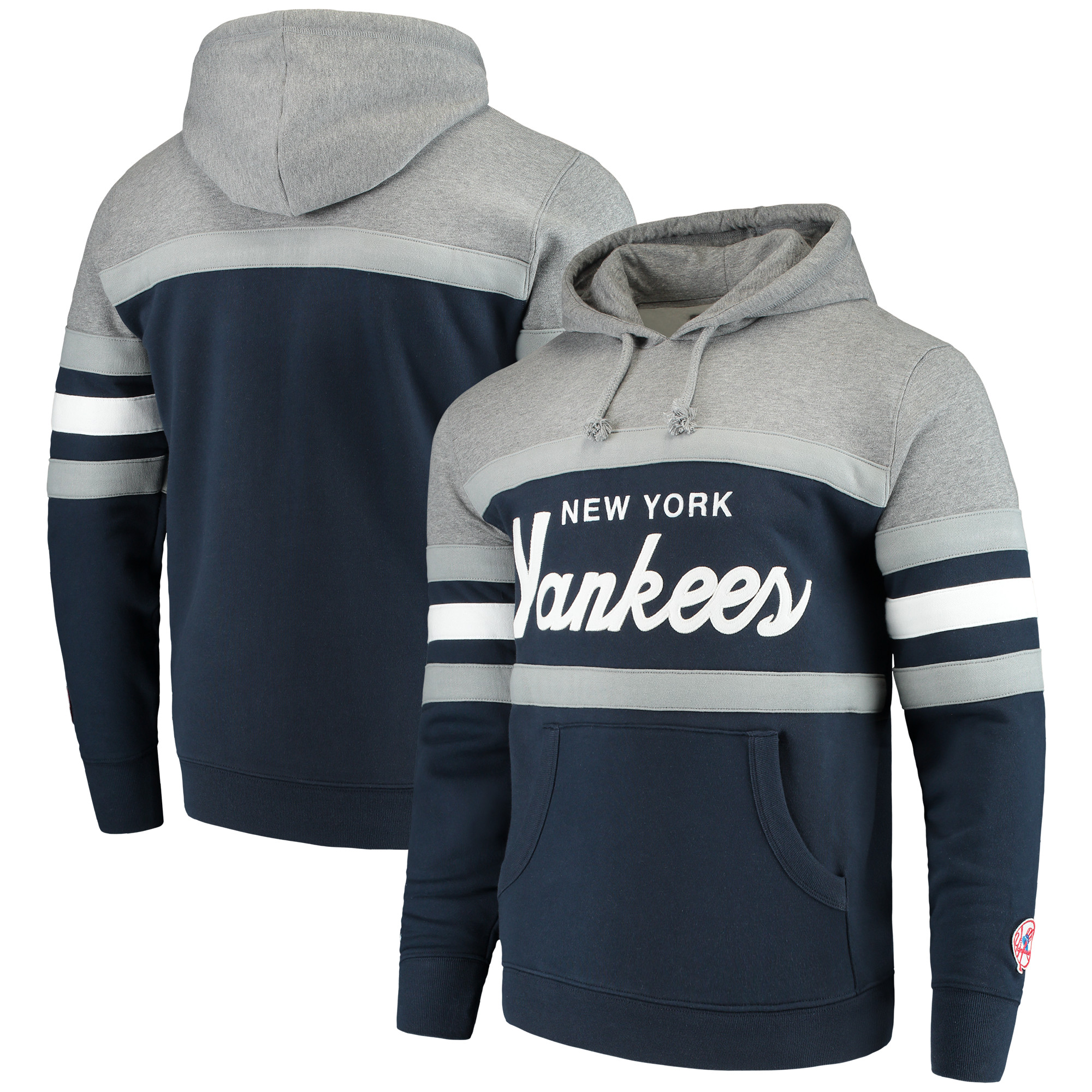 New York Yankees Mitchell & Ness Head Coach Hoodie - Navy