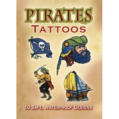 Dover Publications-Pirates - Pirate Theme Tattoos