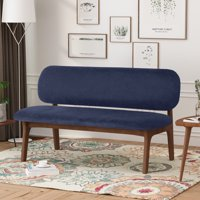 Noble House Quinton Wooden Dining Bench, Gray, Walnut
