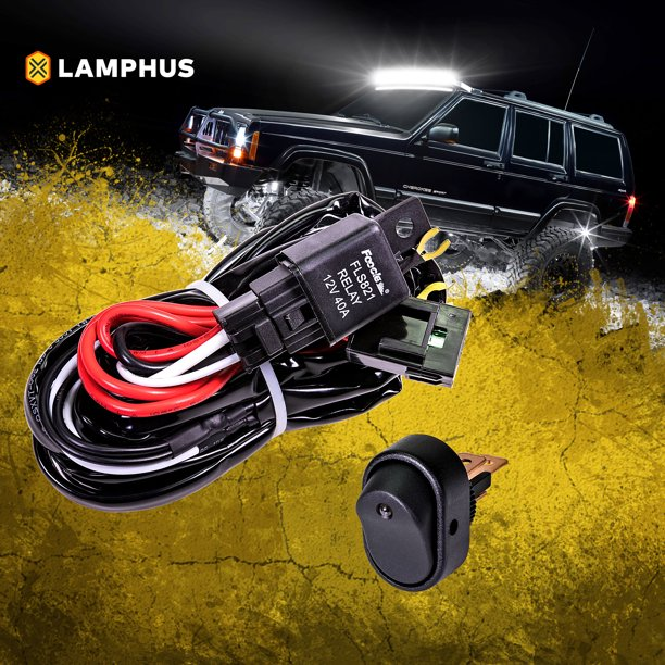 wiring harness kit for atv lamphus 12v 40a off road led light bar relay wiring harness kit  led light bar relay wiring harness kit