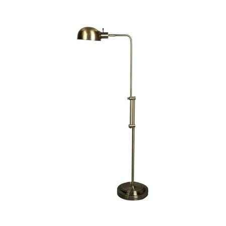 Adjustable floor lamp in antique brass finish walmartcom for Antique brass adjustable height floor lamp
