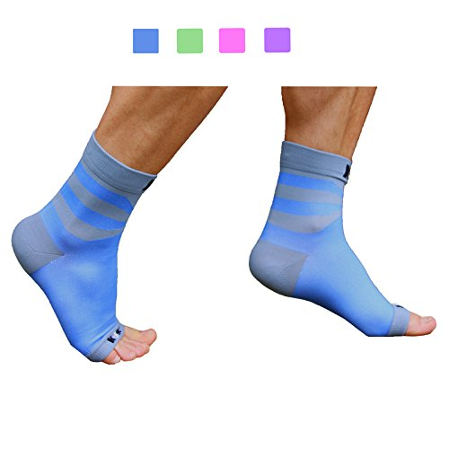Plantar Fasciitis Sock, Compression Socks for Men Women Nurses Runners Ankle Sleeve for Arch and Achilles Heel Pain and Support - Medium