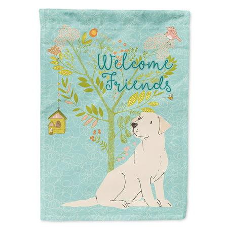 Welcome Friends Yellow Labrador Retriever Garden Flag
