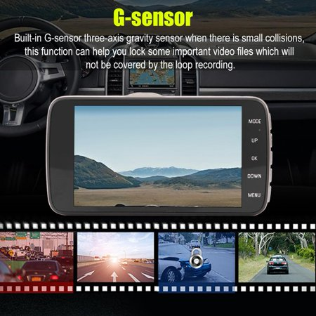 LHCER 4Inch HD 1080P Car DVR Driving Video Recorder Dual Lens Dash Camera Night Vision, Car Dash Camera, HD Car DVR - image 4 of 13