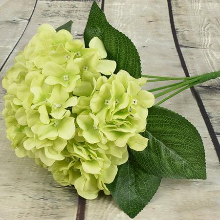 KABOER Artificial Hydrangea Flowers DIY 5 Heads Flower Bouquet Home Hotel Wedding Party Garden Decor Antique Garden Hydrangea