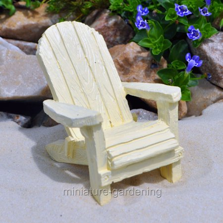 Miniature Traditional Adirondack Chair, Color Options for Miniature Garden, Fairy Garden
