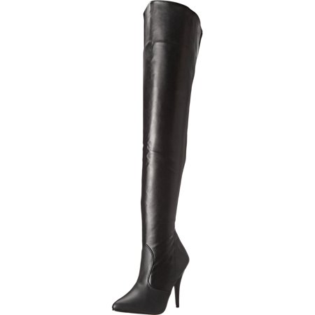 5 Inch Sexy Thigh Hi Boot Classic Plain Thigh Boot Single Sole