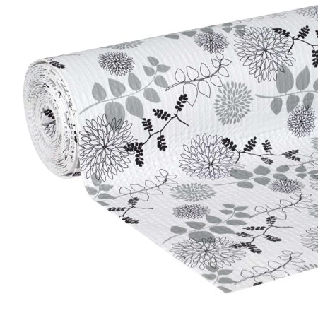 Linear Pot - EasyLiner Smooth Top 20 In. x 6 Ft. Shelf Liner, Midnight Bloom