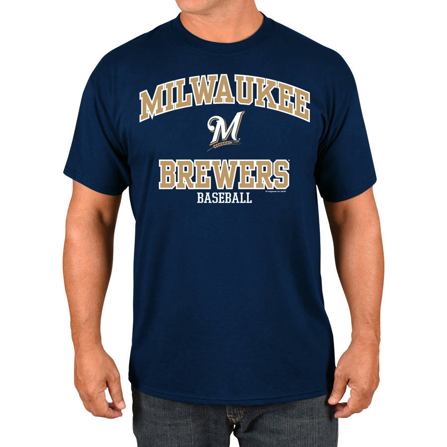 MLB Milwaukee Brewers Big Men's Basic Tee