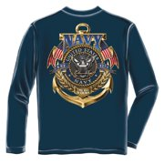 United States Navy The Sea Is Ours Long Sleeve T-Shirt by , Navy Blue