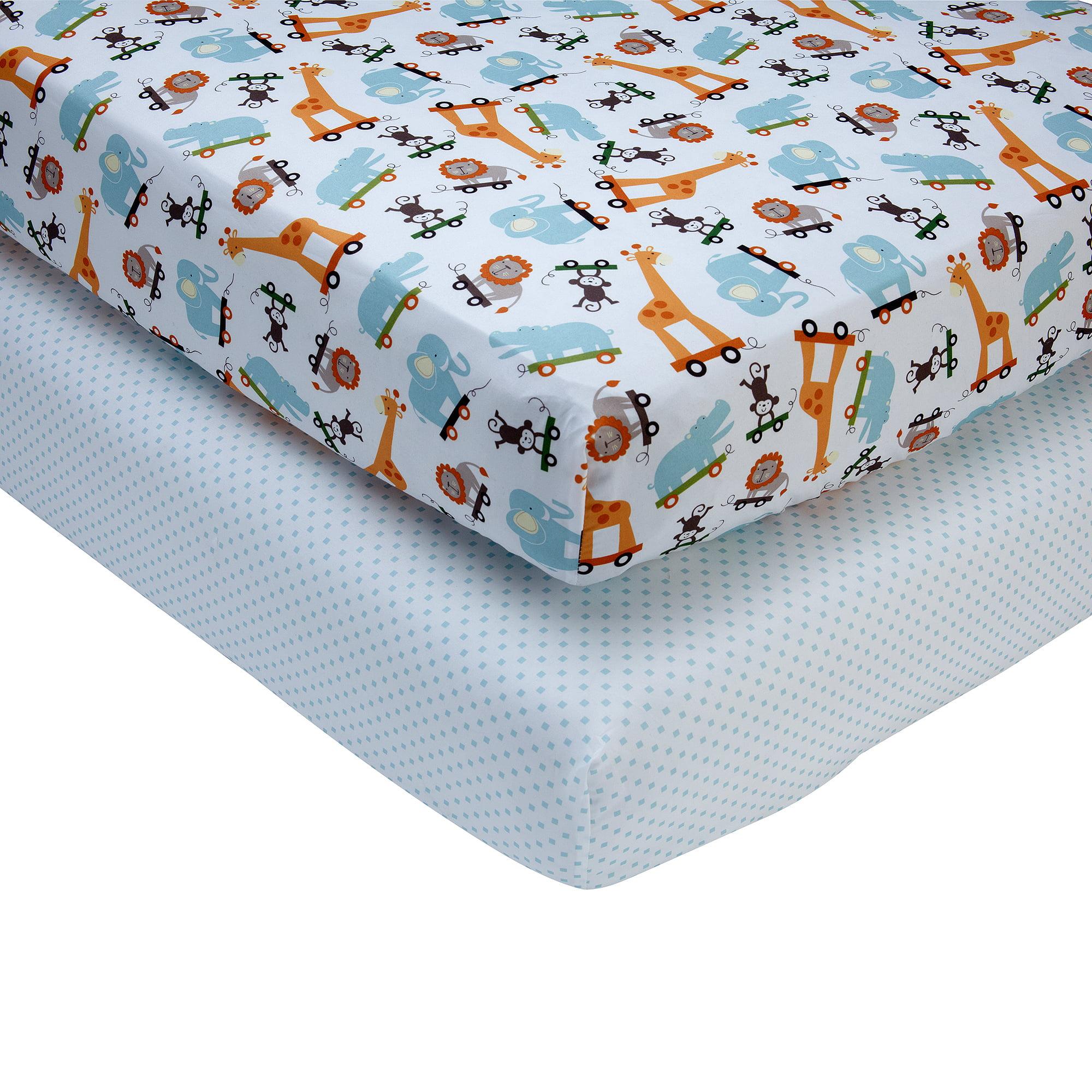 Little Bedding by NoJo Critter Pals 2-Pack Sheet Set