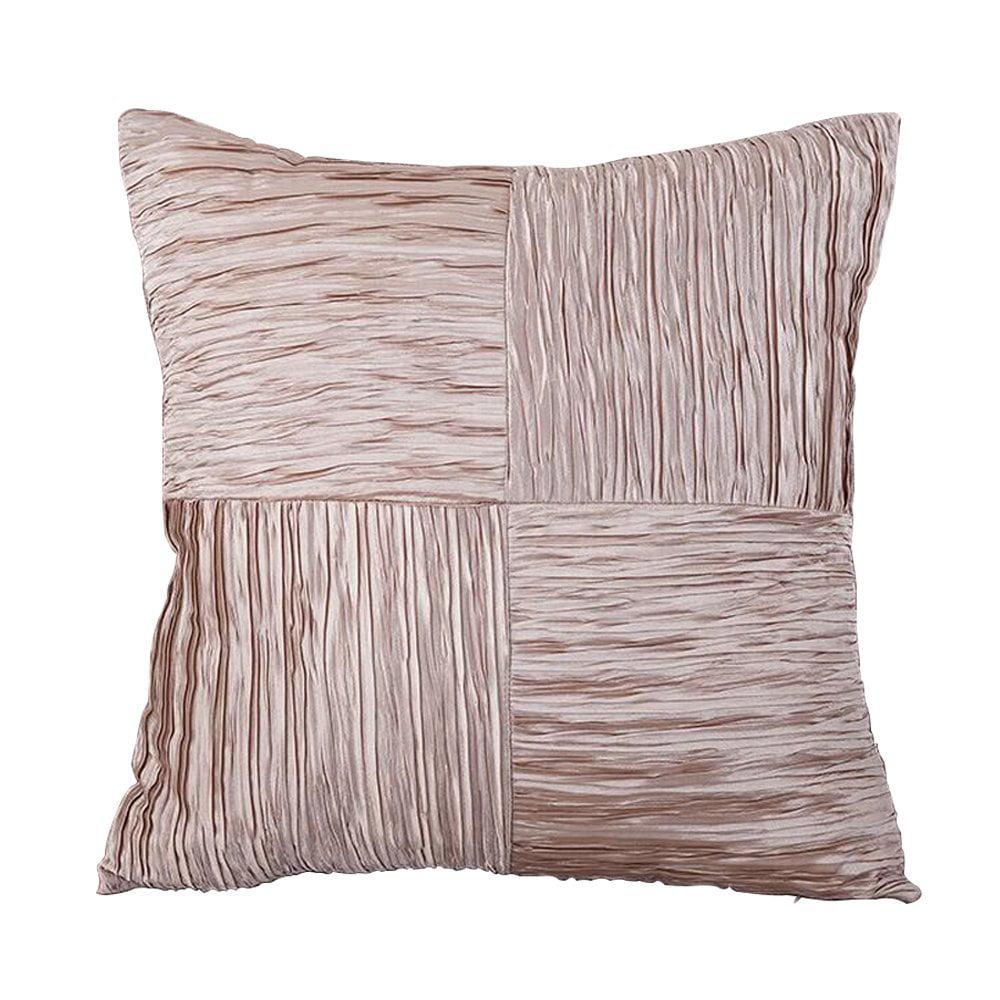 "FabricMCC Throw Pillow Covers FabricMCC 18"" X 18"" Silk & Satin"