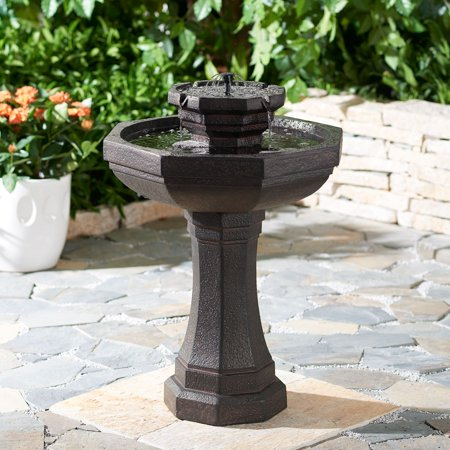 Better Homes & Gardens Warwick Solar Pedestal Water Fountain