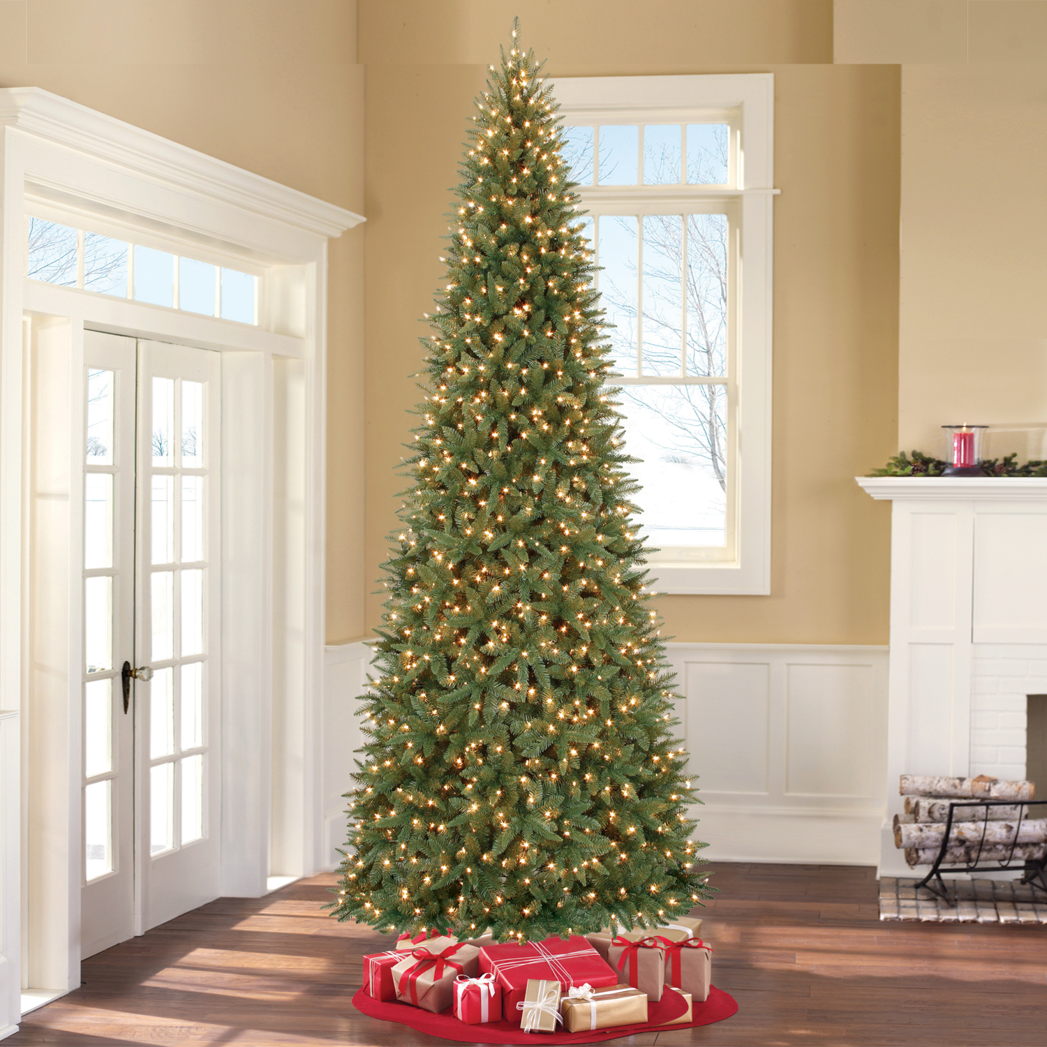 Holiday Time Pre-Lit 12' Williams Pine Artificial Christmas Tree, Clear-Lights - Walmart.com