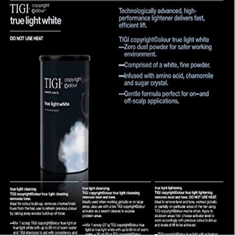 TIGI COPYRIGHT COLOUR TRUE LIGHT WHITE
