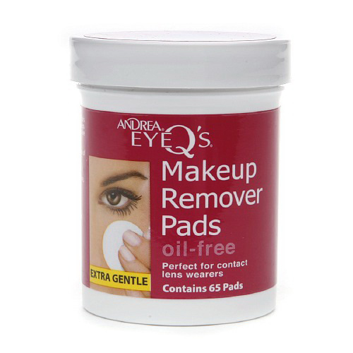 Andrea Eyeqs Oil Free Makeup Remover Pads - 65 Ea, 3 Pack