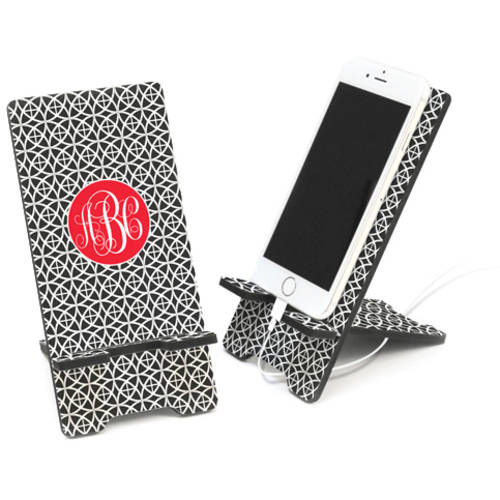 Geo Trellis Design Personalized Cell Phone Stand