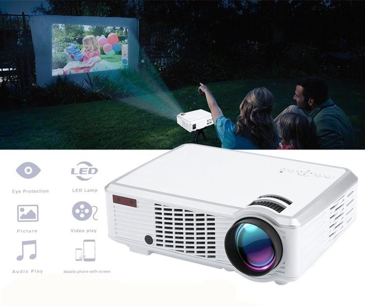 HD 1080P WiFi Mini Projector LED Portable Projector Home Movie Projector AV,HDMI,VGA,USB Multimedia Home... by Generic
