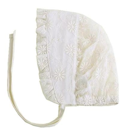 Styles I Love Infant Baby Girls Spring Summer Floral Lace Cotton Bonnet Adjustable Lightweight Sun Hat But I Vintage Bonnet