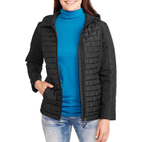 Free Tech Women's Sleek Quilted Jacket with Softshell Sleeves