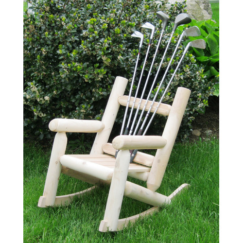 Ski Chair Golf Children's Club Solid Wood Rocking Adirondack Chair
