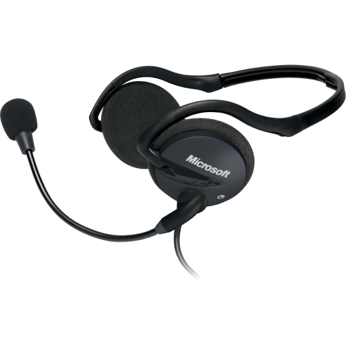 Microsoft 2AA-00008 Microsoft LifeChat LX-2000 Headset - Stereo - Mini-phone - Wired - Behind-the-neck - Binaural - Circumaural - 8 ft Cable - Noise Cancelling Microphone