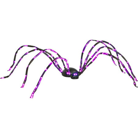 8' Long Lighted Purple Halloween Spider](Purple Halloween Lights)