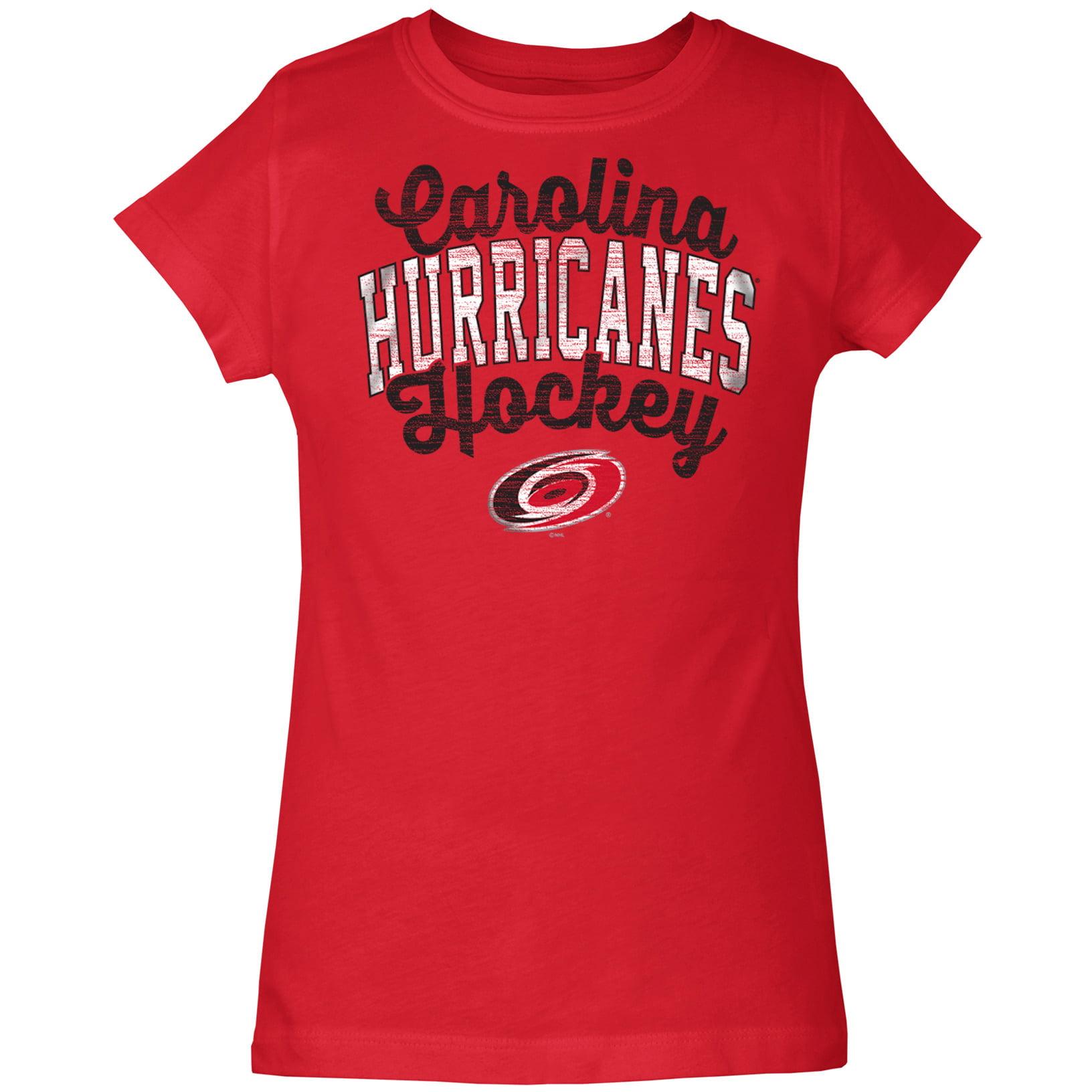 Carolina Hurricanes 5th & Ocean by New Era Girls Youth Baby Jersey T-Shirt - Red