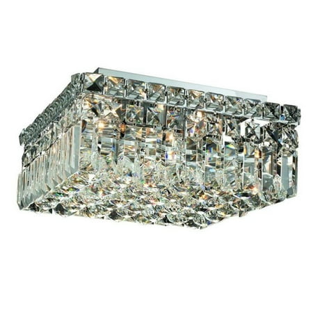 "Elegant Lighting Maxime 12"" 4 Light Spectra Crystal Flush Mount - image 1 de 1"