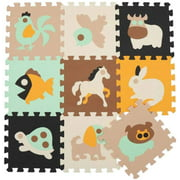 Foam Tiled Puzzle Play Mat Non-Toxic Foam Baby Crawling Mat for Toddler Kids Babies Playrooms/Nursery Time and Crawling(Animal)