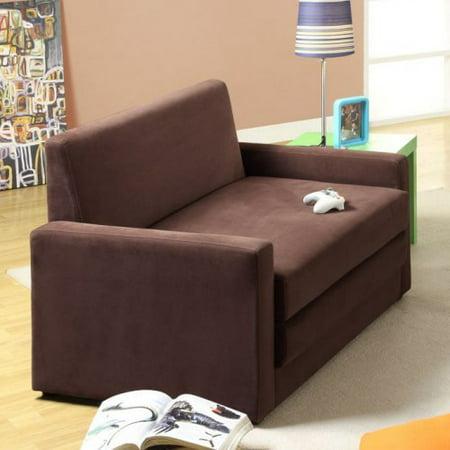 Dhp Dorel Double Sleeper Chair Brown Walmart Com