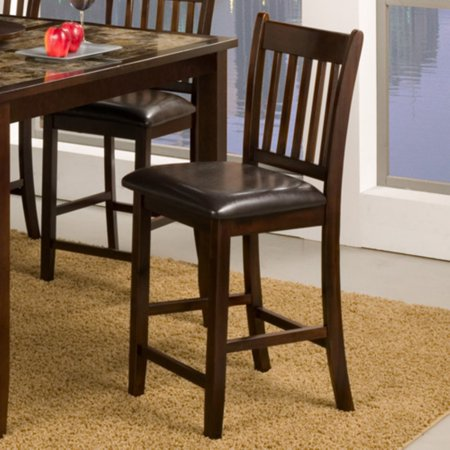 Alpine Furniture Capitola Counter Height Chair - Espresso - Set of 2