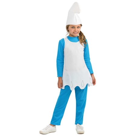 Smurfs The Lost Village Girls Smurfette Child Halloween Costume](Smurf Costume Women)