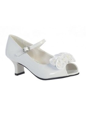 Girls White Pearled Nancy Occasion Dress Shoes 11-4 Kids