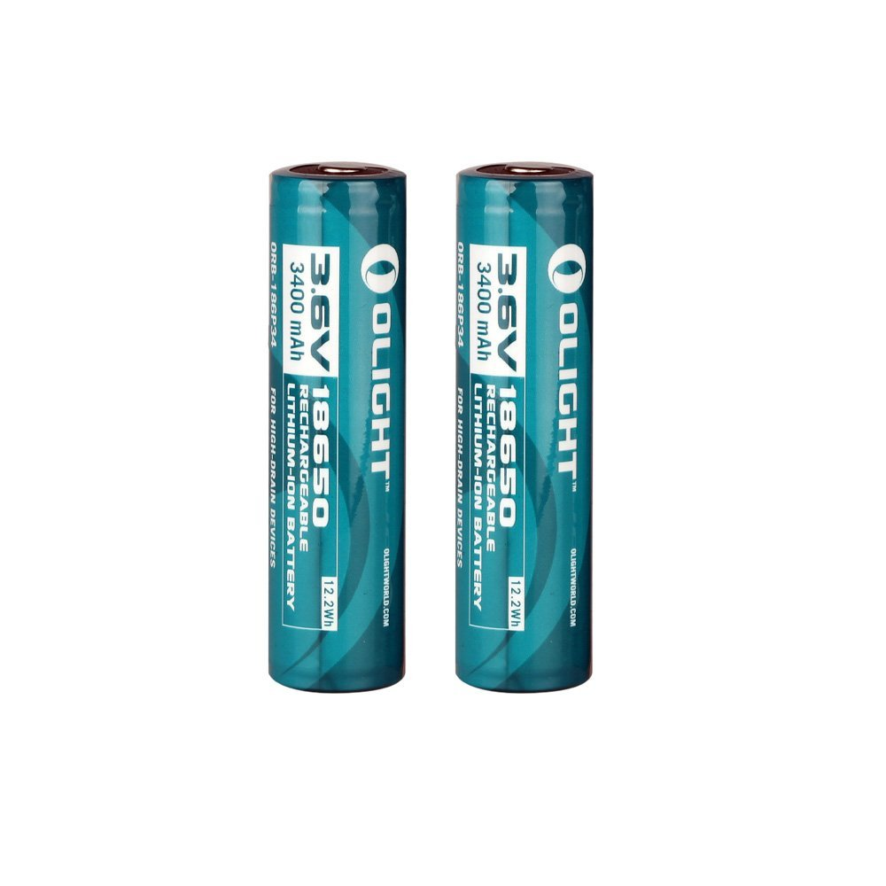 2 Pack Olight 3400mah Protected Rechargeable Li-ion Batte...