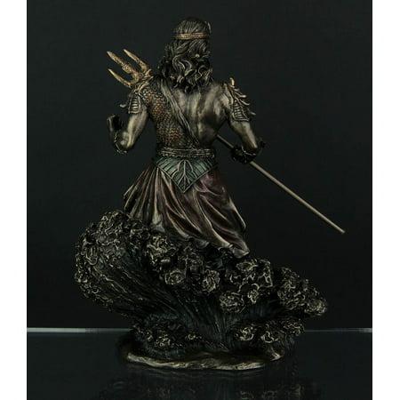 Metallic Bronze Finish Greek God Poseidon Statue - image 2 of 3