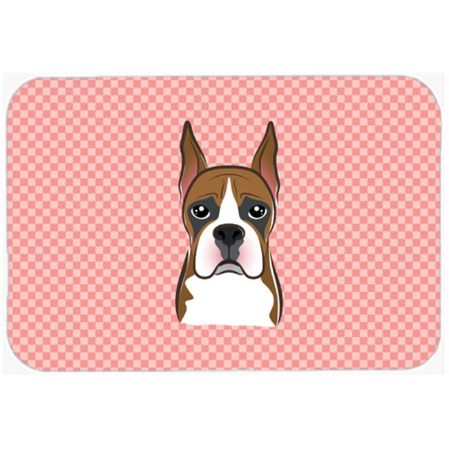 Checkerboard Blue Boxer Mouse Pad, Hot Pad Or Trivet, 7.75 x 9.25 In.