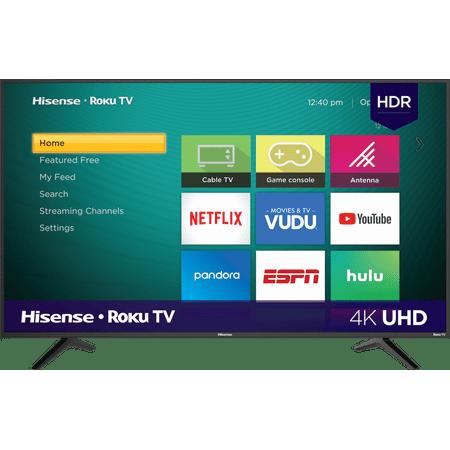 """Hisense 50"""" Class 4K UHD LED Roku Smart TV HDR 50R6E1"""
