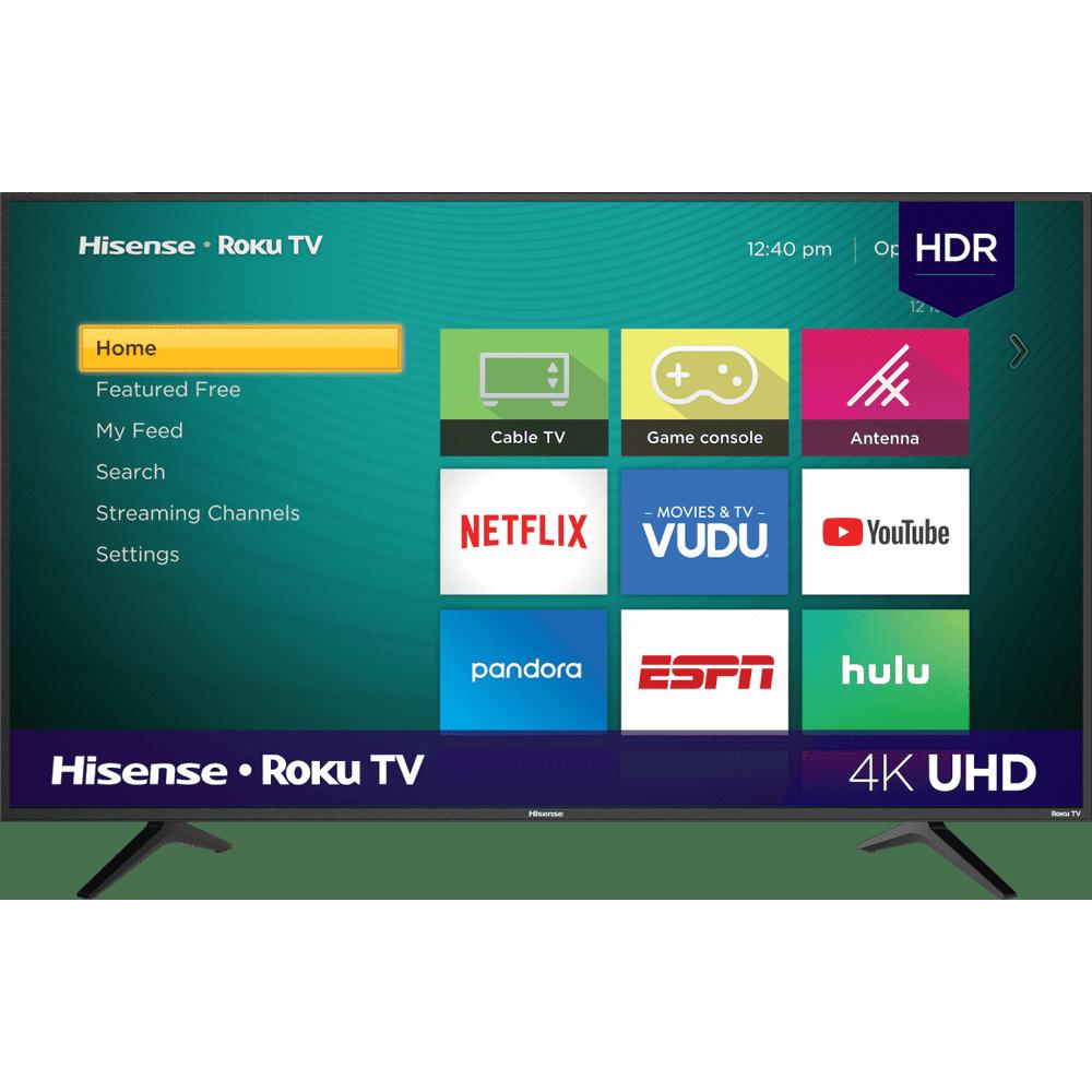 """Hisense 50"""" Class 4K UHD LED Roku Smart TV HDR 50R6E"""