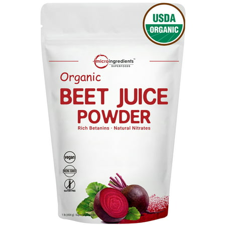 Micro Ingredients Premium Organic Beet Juice Powder, 1 Pound,