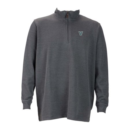 Villanova Mens 1 4 Zip Flat Back Rib Pullover  Color  Grey